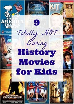 Awesome kid-friendly movies that actually teach kids history in a fun way! Fun ideas for summer movie days.