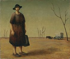 """via windypoplarsroom:  Russell Drysdale  """"The drover's wife"""""""