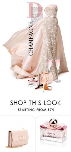 """""""""""I Only Drink Champagne On Two Occasions. When I Am In Love And When I Am Not."""" - Coco Chanel"""" by halfmoonrun ❤ liked on Polyvore featuring Salvatore Ferragamo, Chanel and Givenchy"""