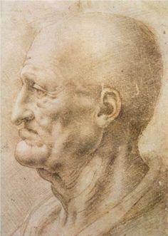 Profile of an old man - Leonardo da Vinci