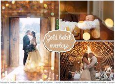 Gold Bokeh Photoshop Overlays by ElyseBear on Creative Market