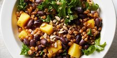 Black Bean, Mango & Kale Wheat Berry Salad #wheatberry #wheat #wheatlovers #wheatgrass #wheatberries #farming #healthy #homegrown #Farm #wheatrecipes #food #foodie #healthylifestyle #healthyeating Dried Black Beans, Black Beans And Rice, Canned Black Beans, Wheat Berry Salad, Grain Salad, Healthy Grains, Healthy Eating, Salad Recipes, Vegan Recipes
