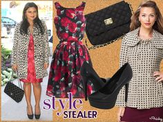 Don't be afraid of patterns! Floral and polka-dots are both traditionally famine and flattering. #Vday
