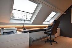 living room ideas – New Ideas Attic Bedroom Designs, Attic Bedrooms, Attic Design, Loft Design, House Design, Design Design, Loft Office, Home Office Setup, Home Office Design