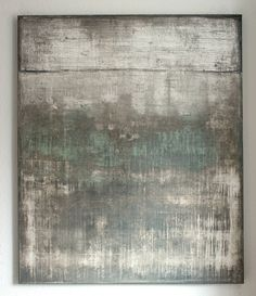 Buy wall impressions No.16, a Acrylic on Canvas by Christian Hetzel from Germany. It portrays: Abstract, relevant to: blue, texture, weathered, white, contemporary, abstract, art, green, grey, minimal, mint mixed media on canvas, minimal work with textured surface