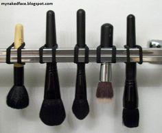 DIY make up brush drying rack