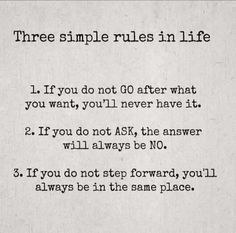 Go for it, ask and step forward!!