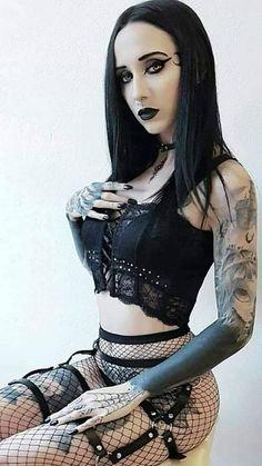 GotischeYou can find Goth girls and more on our website. Hot Goth Girls, Cute Goth Girl, Goth Beauty, Dark Beauty, Dark Fashion, Gothic Fashion, Steampunk Fashion, Emo Fashion, Goth Girls