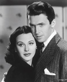 """Hedy Lamarr and James Stewart in """"Come Live With Me."""""""