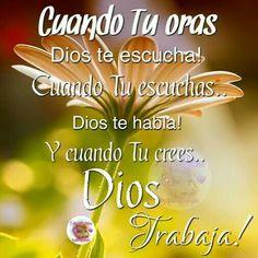 Confiar y orar son mis herramienta, soy hija de Dios,  el amor brilla en mí,  y dichosa soy pues creo que se cumplirá lo que he pedido. Pedid y se os dará.