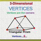 STUDENTS WILL COUNT THE NUMBER OF VERTICES ON TWO AND THREE DIMENSIONAL FIGURES...