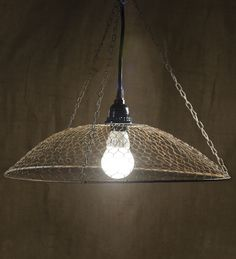 Chicken Wire Lamp Rusty 16.5in