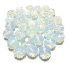 Moonstone Beads Glass Beads 12mm Beads by PinkCloudsAndAngels