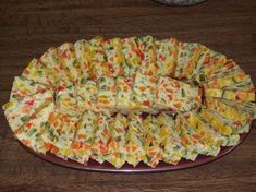Vegetable bread with summer colors- Quick Soup Recipes, Veggie Recipes, Healthy Dinner Recipes, Vegetarian Recipes, Vegetable Bread, Healthy Chicken Dinner, Salty Foods, Healthy Breakfast Recipes, Entrees