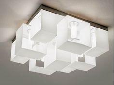 Lampada da soffitto in vetro soffiato DOMINO   Lampada da soffitto - PANZERI