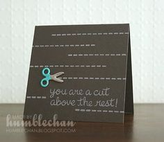 Cut above the rest card