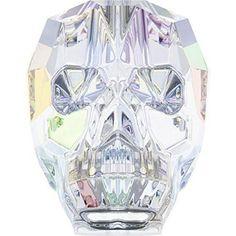 5750 Swarovski Crystal Skull Beads 13mm Crystal AB / 13mm - Pack of 1 Bluestreak Crystals