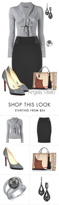 """""""Untitled #670"""" by angela-vitello on Polyvore featuring Alexander McQueen, maurices, Christian Louboutin, River Island, women's clothing, women, female, woman, misses and juniors"""