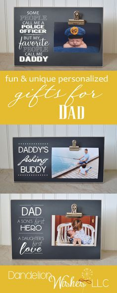 Find a FUN personalized and special gift for Dad this Father's Day. One of our special frames is sure to make him smile again and again.