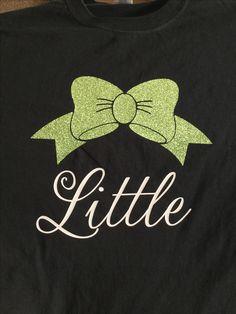 Light green bow vinyl sorority shirt