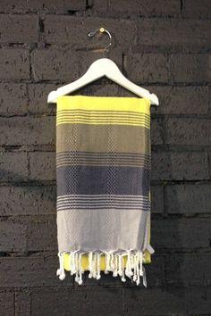Carousel Multi Turkish Towels in Black and Yellow