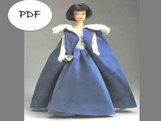 Vintage Reproduction for Barbie Dress  Sewing by GavryDollsPattern, $1.90
