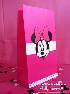 Hot Pink Minnie Mouse Goody Bags (Set of 12) - FREE SHIPPING. $20.00, via Etsy.