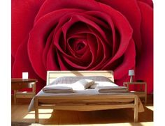 """Mural """"Red Rose"""". A wall mural from Muralunique.com. https://www.muralunique.com/red-rose-12-x-8-366m-x-244m.html"""