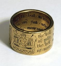 Coventry Ring' made of gold, 15th-century  by British anonymous goldsmith