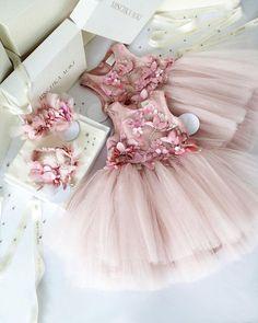 Pr/énatal M/ädchen Kleinkind Kleid Light Sugar Pink
