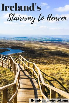 Everything you need to know about the Stairway to Heaven Ireland located in County Fermanagh. The stairways is a 4 hour hike featuring a boardwalk that ascend's into 450 steps reaching for the… Ireland Hiking, Ireland Travel Guide, Dublin Travel, Galway Ireland, Cork Ireland, Europe Destinations, Europe Travel Tips, Places To Travel, Travel Packing