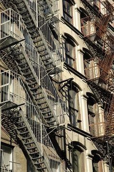 NYC. Firescapes in Soho  still sama from 1940s unforgetable from best musical back ground made ever.. ? Guess what?