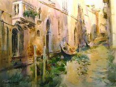 watercolour by Laurentino Martí, Venice Watercolor Artists, Artist Painting, Watercolor Paintings, Watercolors, Joseph Zbukvic, Marti, Spanish Art, Spanish Painters, Watercolor Texture