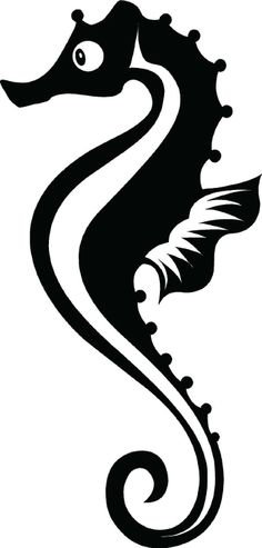 Amazon.com - Seahorse Wall Art Decal Sticker Home Decor (black) -