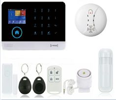 SAFEARMED G6 wireless zones app control GSM alarm system with touch screen TFT color display home alarm system PIR Motion Senson