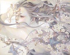 Miho Hirano - 瞬く風 F50 Oil on canvas