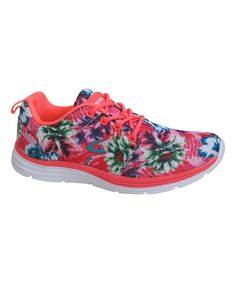 Another great find on #zulily! Dream Seek Fuchsia Floral Running Shoe by Dream Seek #zulilyfinds