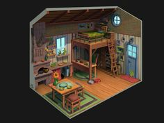 House Interior by Yana Blyznuik