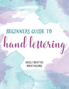 Beginner's Guide to Hand Lettering - RockThis.org  Hand lettering and calligraphy are all the rage these days. This is a beginner's guide to help you see what all the fuss is about and to help YOU get started!  What's included in the Handbook?  What hand lettering is Supplies Lettering terminology Common mistakes Types of lettering Examples and practice pages Basic Strokes How to hold your pen How to incorporate those things into your bible pages If you've wanted to improve your hand…