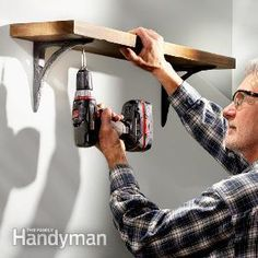 How to Hang Shelves--Add storage space the old-fashioned way