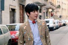 [160118 Jung YongHwa - Men's Gucci F/W 2016 Fashion Show]