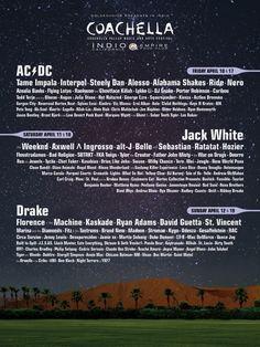 Coachella 2015 Lineup Announced - AC/DC, Drake, Jack White to headline : pitchfork - Jan 6, 2015   #Coachella2015