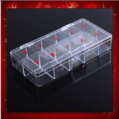 10 Compartments Clear Plastic Storage Box Bead Organizer Display Containers Case B0273