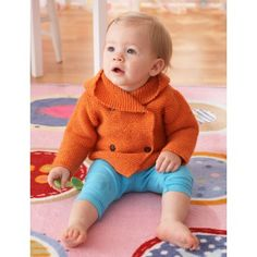 Free Easy Baby's Sweater Knit Pattern