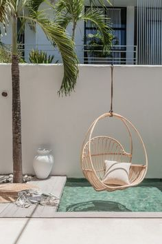 The products from the homewares store Villa Lane fit like a glove at Casa Palma, Bali. A Canggu residence perfect for homewares and interior shoots. Modern Home Interior Design, Modern House Design, Interior Design Living Room, Appartment Design, Ibiza, Rattan Outdoor Furniture, Mini Pool, Boho Living Room, Living Spaces