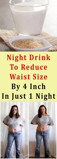 Night Drink To Reduce Waist Size By 4 Inch In Just 1 Night #weightloss #health #beauty #fitness #detox #fat #belly