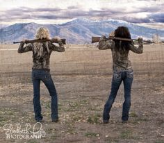 Country girls senior pictures.... I like this idea for the future ;)