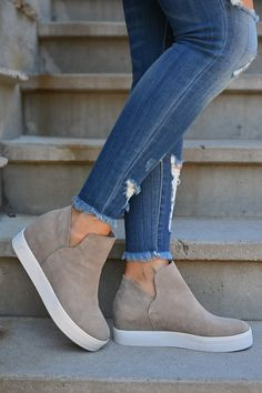 STEVE MADDEN Wrangle Wedge Sneakers - Taupe women's hidden wedge slip on sneakers closet candy 1 Source by women Shoes Shoes 2018, Women's Shoes, Cute Shoes, Wedge Shoes, Shoe Boots, Fall Shoes, Shoes Sneakers, Platform Shoes, Black Slip On Sneakers Outfit