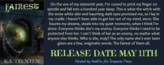 My blurby banner for my f/f fantasy fairytale, 'Fairest'!