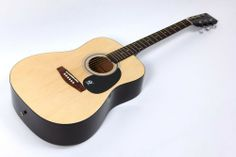 Lindo Dreadnought Natural Gloss Acoustic Guitar Free Gig Bag